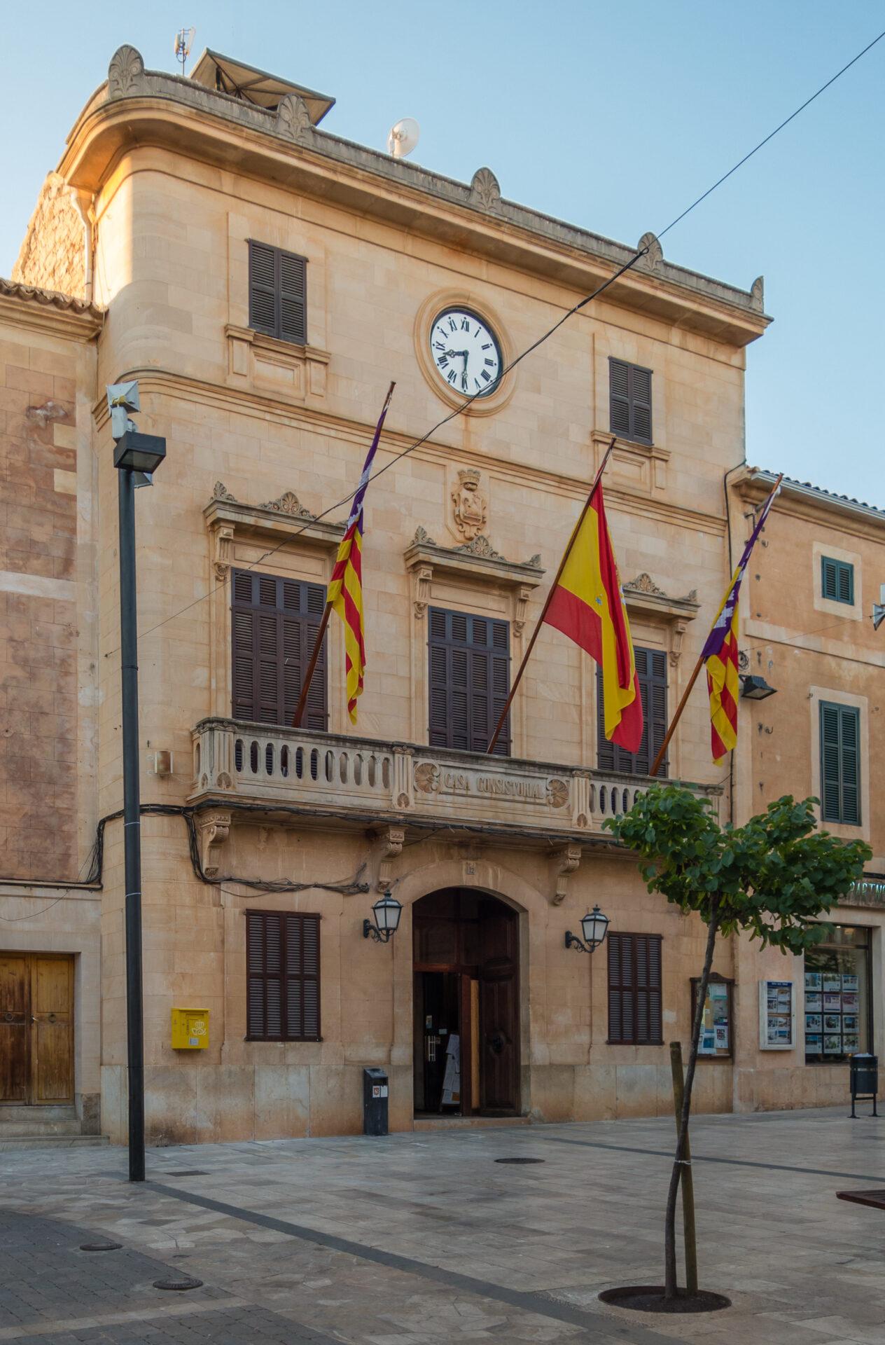 Vista de l'Ajuntament Santanyí